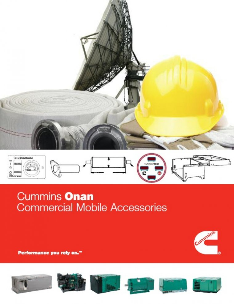 Cummins Onan Commercial Accessories Catalog